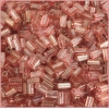 Rectangle Beads 5X2.6mm Square Hole Pink Luster